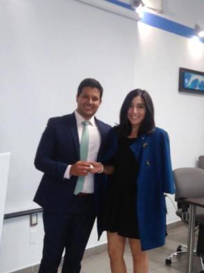 Con Agustin Tristan Presidente de la Comision de Empresario Jóvenes de COPARMEX