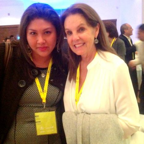 Con Marinela Servitje